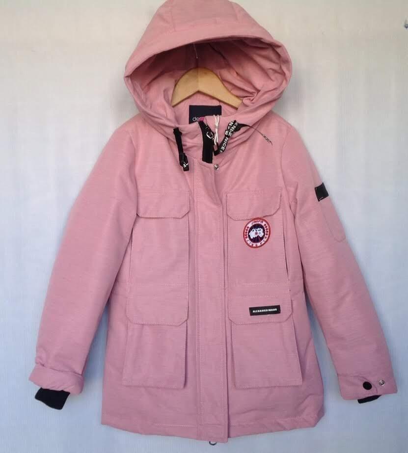 Куртка детская демисезонная #LB19-11 для девочек 8-9-10-11-12 лет (128-152 см). Светло-розовая. Оптом