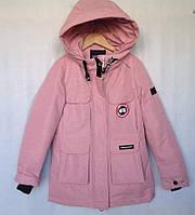 Куртка детская демисезонная #LB19-11 для девочек 8-9-10-11-12 лет (128-152 см). Светло-розовая. Оптом, фото 1