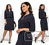 Легкое принтованное платье с завышенной талией в больших размерах 1BR1495