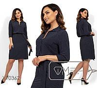 Легкое принтованное платье с завышенной талией в больших размерах 1BR1495, фото 1