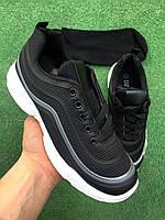 Кроссовки - Черные с серой полоской