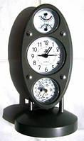 Метеостанция Барометр, Гигрометр, Термометр, Влагомер, Часы (Овал Вертикальный), фото 1