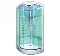 Гидромассажный бокс на мелкам поддоне 90*90 см Am.Pm Joy W85C-292-090MTA стекло прозрачное