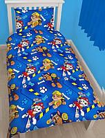 Детская постель Щенячий Патруль. Полуторный комплект детского постельного белья. Ткань Бязь, Коттон