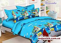 Набор постельного белья машинки автобусы полуторный 150х215см