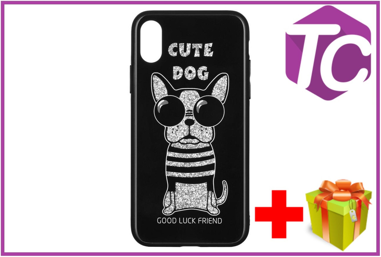 Чехол WK для Apple iPhone XS, WPC-087, Cute Dog Black