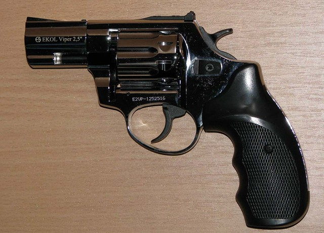 "Револьвер под патрон Флобера Ekol Viper 3"" хром"