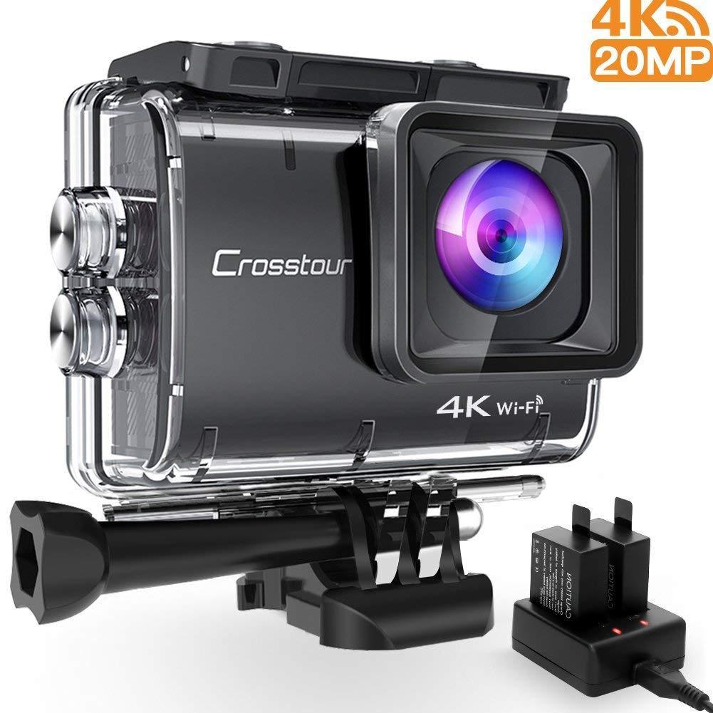 Экшн камера  Crosstour Ultra HD 4K 20MP Wi-Fi 40M EIS аккумуляторная