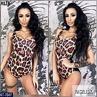 Женский леопардовый купальник , стильная модель 2019
