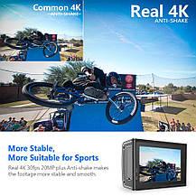 Экшн камера  Crosstour Ultra HD 4K 20MP Wi-Fi 40M EIS аккумуляторная , фото 2
