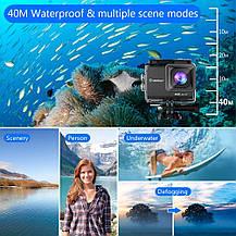 Экшн камера  Crosstour Ultra HD 4K 20MP Wi-Fi 40M EIS аккумуляторная , фото 3