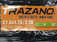 """Камера TRAZANO 27.5"""" x 1.75/2.10 с антипрокольным гелем, самоклейка"""