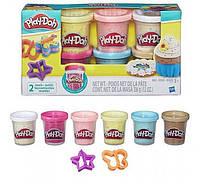 Play Doh Плей до 6 баночек с конфетти Play-Doh Confetti Compound Collection Set B3423