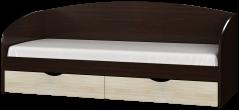 Кровать Комфорт Omni Дом Комби Венге темный Дуб молочный 194х85х80 см