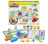 Play-Doh Набор с пластилином Текстуры и формы Shape and Learn Textures