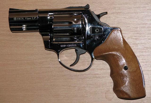 "Револьвер под патрон Флобера Ekol Viper 3"" хром бук"