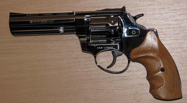 Револьвер под патрон Флобера Ekol Viper 4.5 хром бук