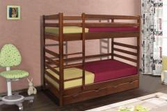 Односпальная кровать МИКС-Мебель 2-я ярусная Засоня 80*190 Тёмный орех