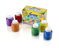 Набор Легко смываемые краски Crayola 6 цветов Washable Metallic Paint Set, 2-Ounce, 6 Count