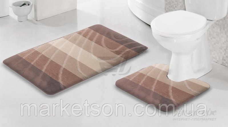 Набор ковриков в ванную и туалет. Турция.