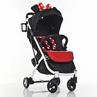 Прогулочная детская коляска M - 3910-3 черно-красная YOGA II