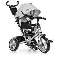 Детский Трехколесный велосипед-коляска Турбо M 3113-19 серый