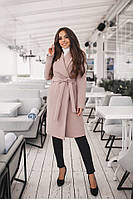 Пальто женское кашемировое на подкладке с поясом и карманами 42-44, 44-46, 46-48