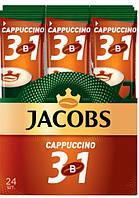 Кофе растворимый Jacobs 3in1 Cappuchino 12g 24 шт x10 бл