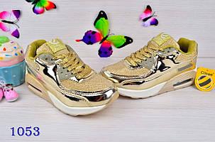 Кроссовки на девочку демисезонные весна-осень  золотистые 34-37 р., фото 2