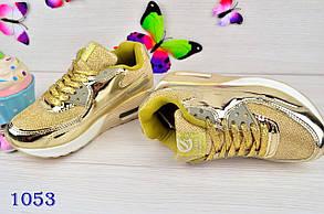 Кроссовки на девочку демисезонные весна-осень  золотистые 34-37 р., фото 3