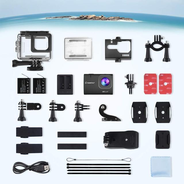Экшн камера  Crosstour Ultra HD 4K 20M