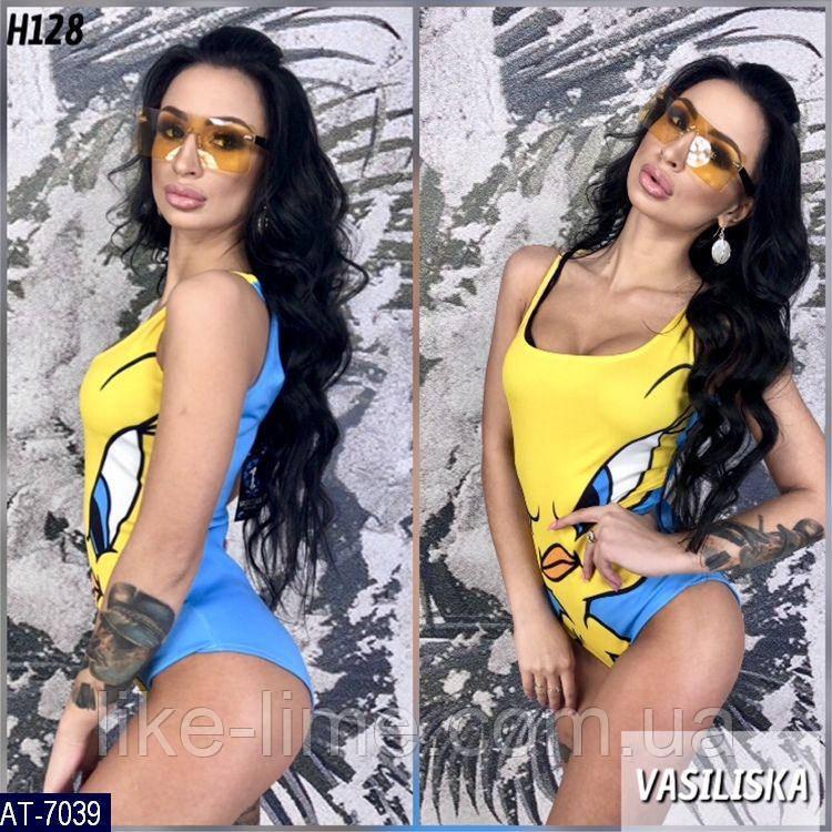 Женский купальник разных принтов , стильная модель 2019