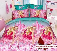 Набор постельного белья Барби полуторный 150х215см