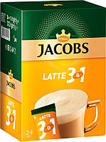 Кофе растворимый Jacobs 3in 1 Latte 12g Якобз 3 в 1 Латте 24 шт x10 бл