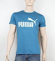 """Мужская футболка """"Вискоза"""" Puma 1901 изумруд, фото 1"""