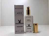 Чоловічий міні-парфуми Bvlgari Aqva pour homme (Булгарі Аква пур Хом) з феромонами 65 мл