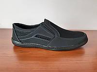 Туфлі чоловічі літні чорні, фото 1