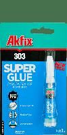 Супер клей цианакрилатный Akfix 303  3 г