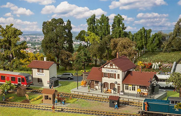 FALLER 190287  сет Сборная модель вокзала 4 в 1м / 1:87