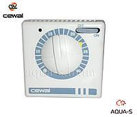 Термостат комнатный Cewal RQ 30 механический (с выключателем) для отопления (Италия)
