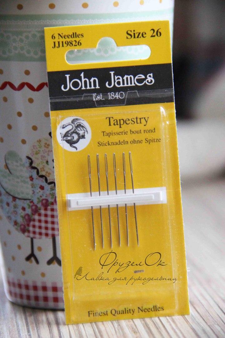 Голки для вишивки John James №26