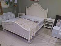 Спальня ВТС (Італія) Натуральне дерево: ліжко, стоики, шафа, фото 1