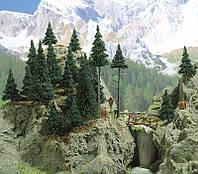 """Busch 6478 Комплект деревьев """" Хвойный лес """"  20 сосен, высотой 50—110 мм, для масштабов N,TT,H0, фото 1"""