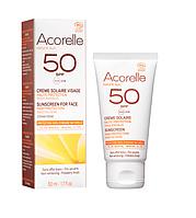 Органический крем для лица солнцезащитный SPF 50 Acorelle,50 мл