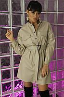 Платье рубашка из эко кожи , фото 1
