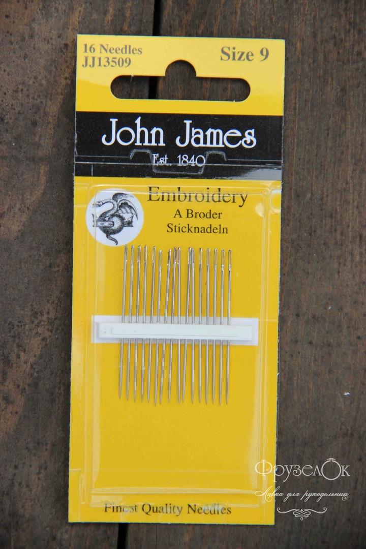Набір голок для гладі John James #9