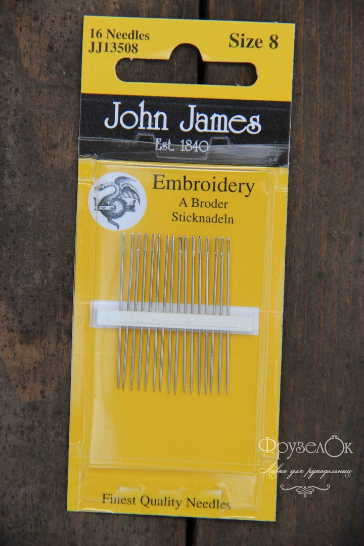 Набір голок для гладі John James #8