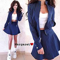 Cтильный костюм в горошек,юбочка+кофта, размеры S, M , фото 2