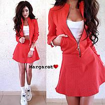 Cтильный костюм в горошек,юбочка+кофта, размеры S, M , фото 3