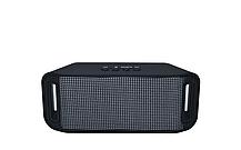 Портативная колонка A38 (Светомузыка, Bluetooth+USB+micro SD, FM, AUX, soft touch) black, фото 2